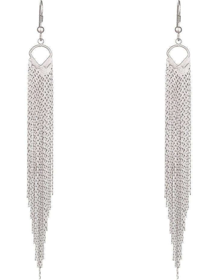 Metal Tassel Earrings image 1