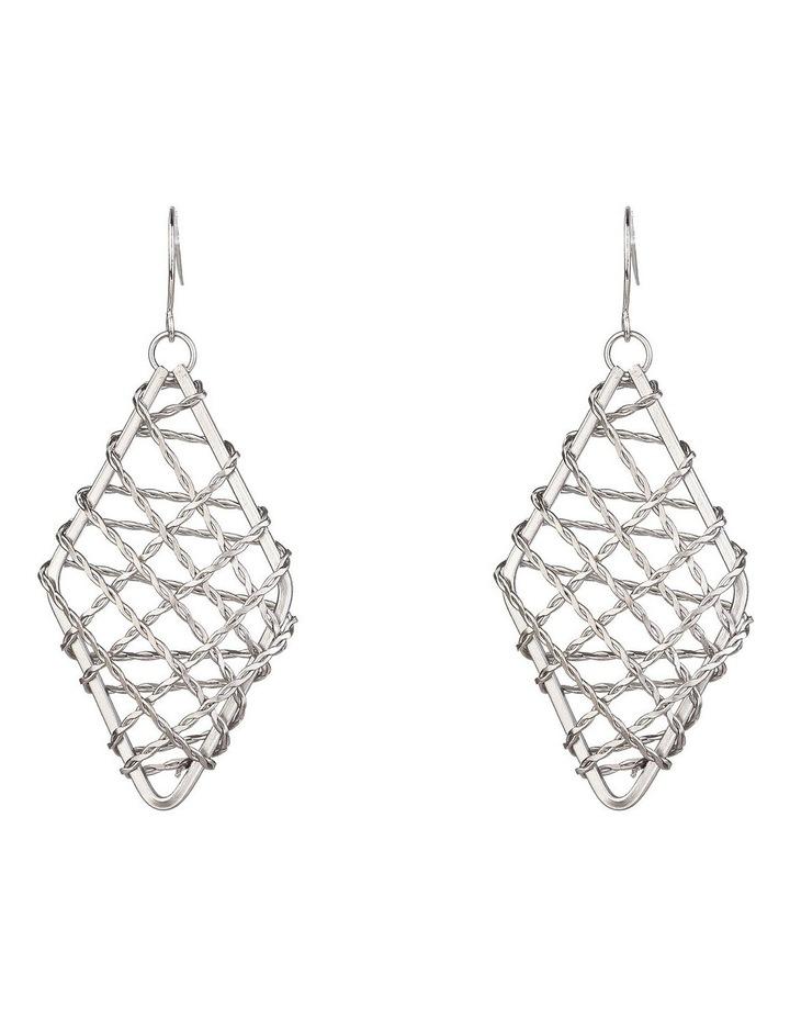 Metal Woven Earrings image 1