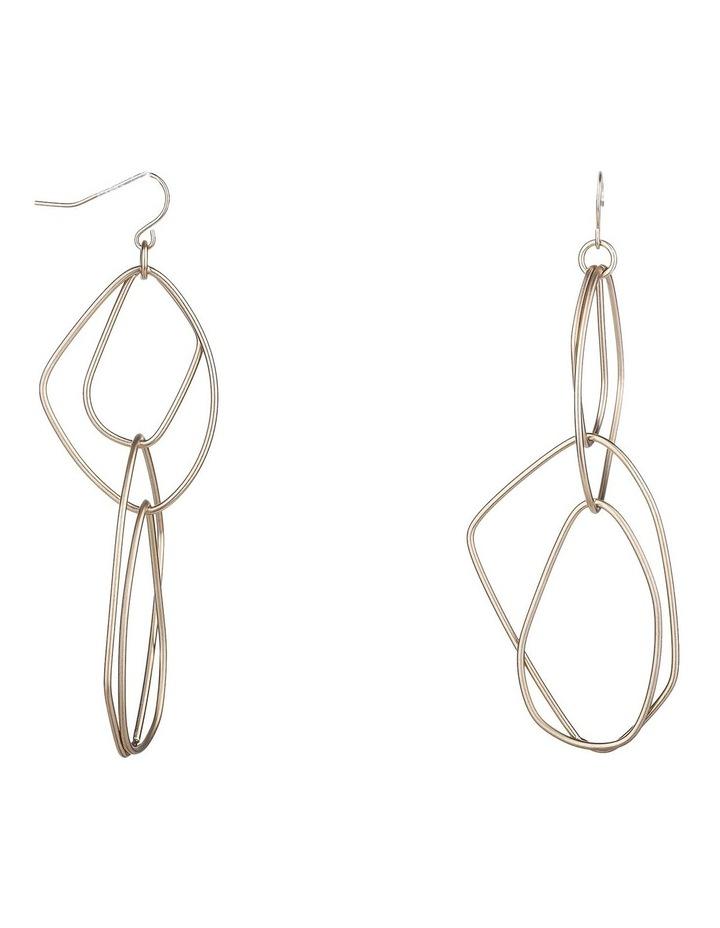 Long Drop Metal Earrings image 2