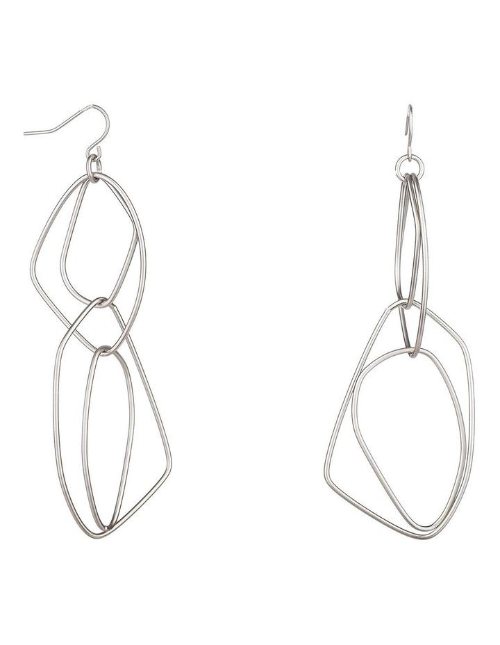 Long Drop Metal Earrings image 1