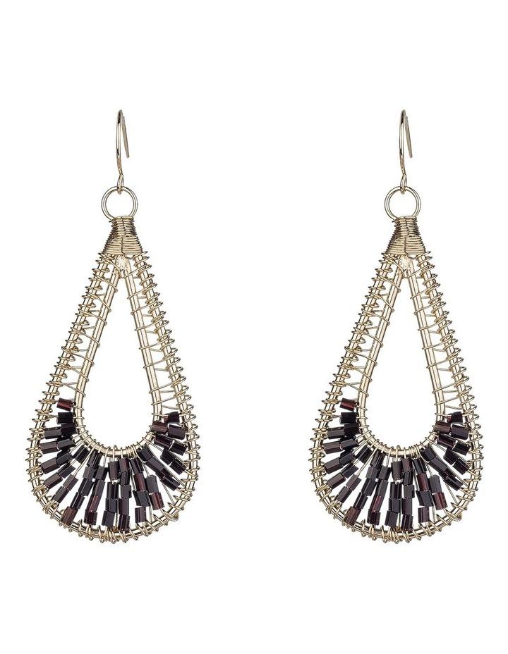 Beaded Metal Earrings image 1