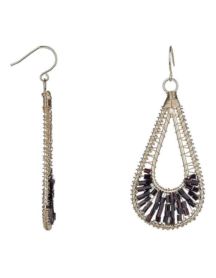 Beaded Metal Earrings image 2