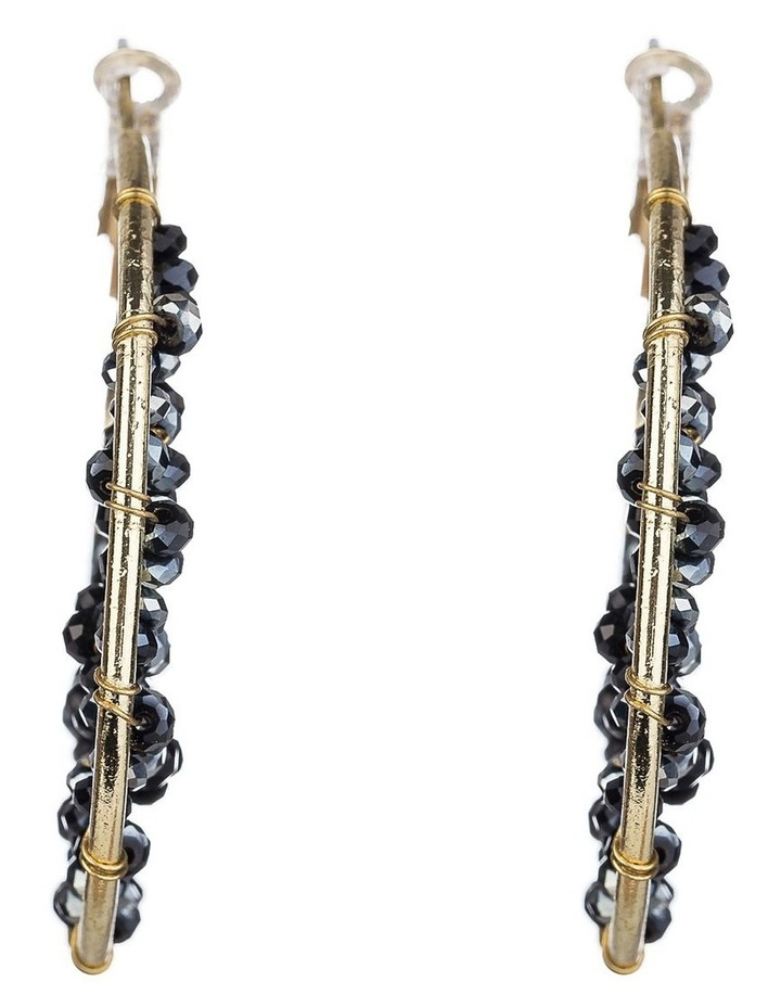 Beaded Hoop Earrings image 1