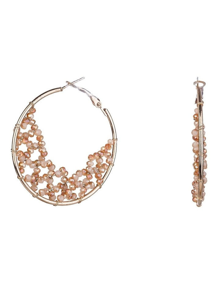 Beaded Hoop Earrings image 2