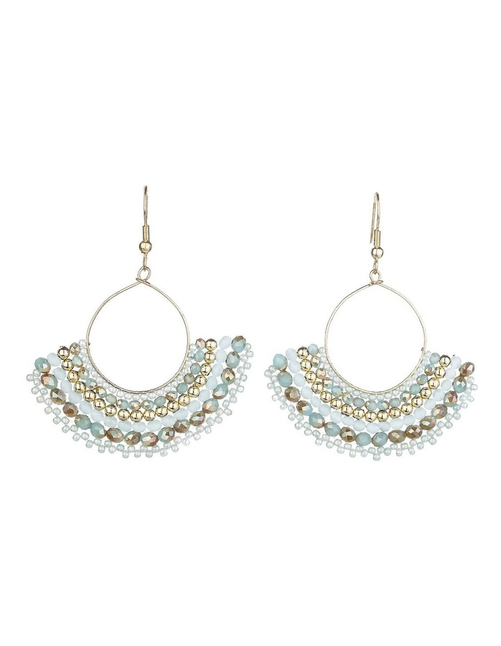 2-Tone Beaded  Earrings image 1