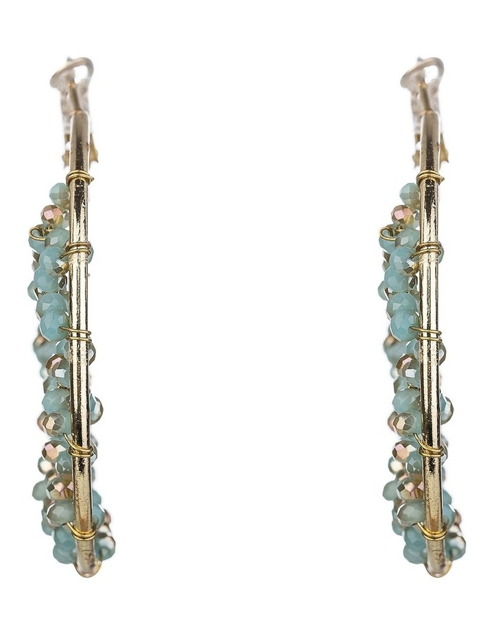 Beaded Hoop Earrings image 1