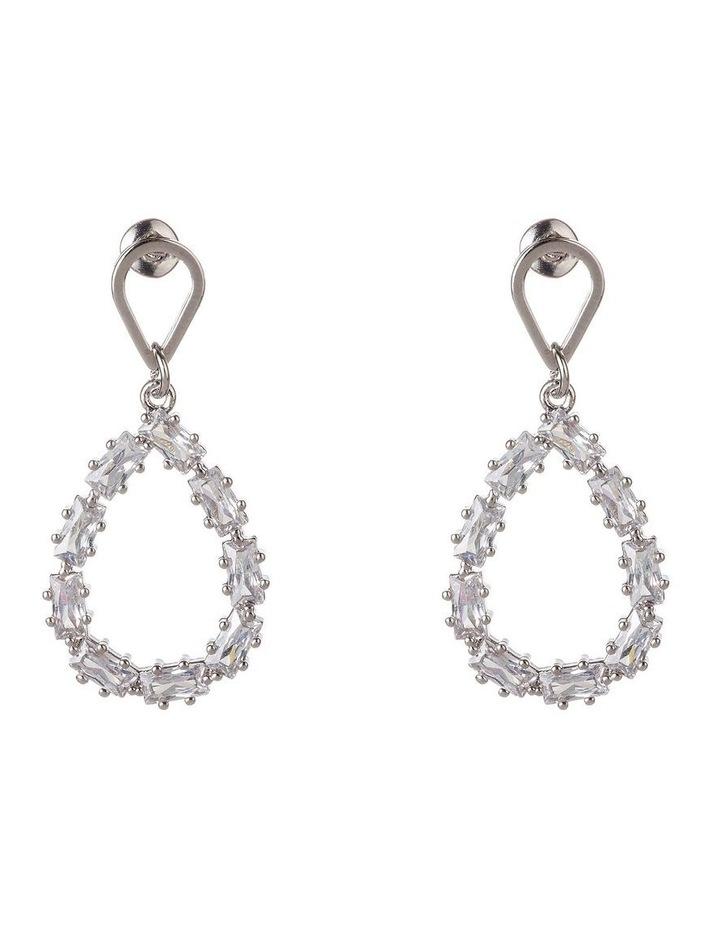 Teardrop CZ Earrings image 1