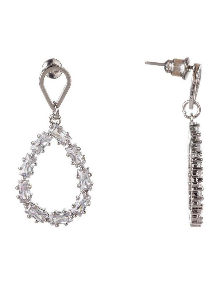 Teardrop CZ Earrings image 2