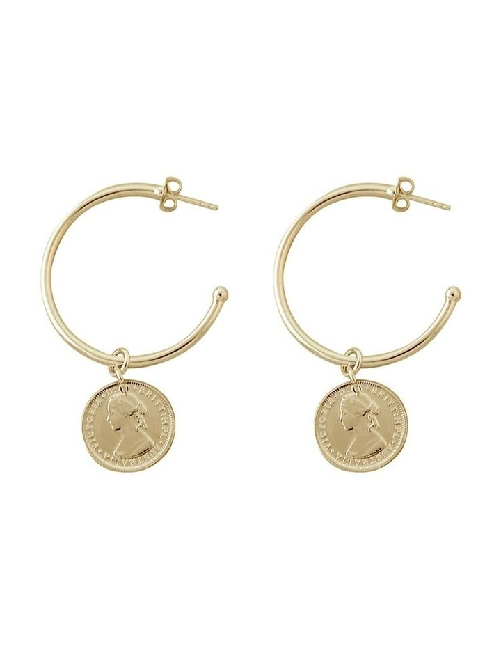 Open Hoop Studs With Coins image 1