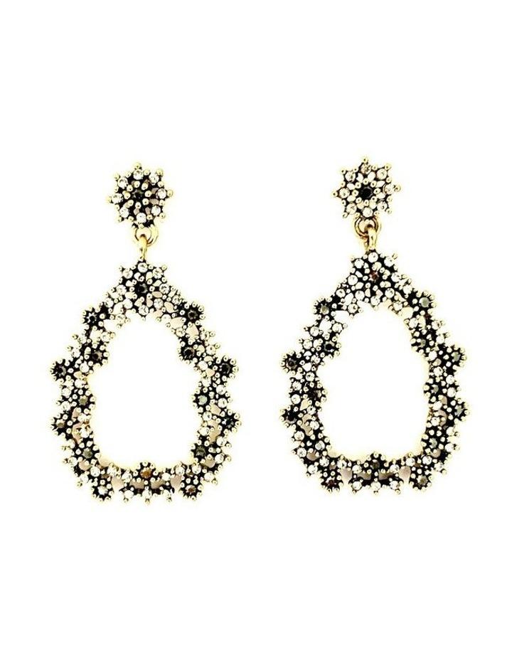 Teardrop Jewelled Earrings image 1