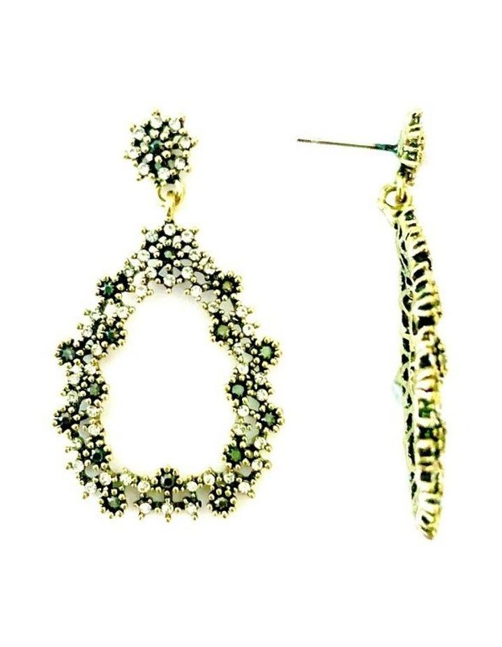 Teardrop Jewelled Earrings image 2
