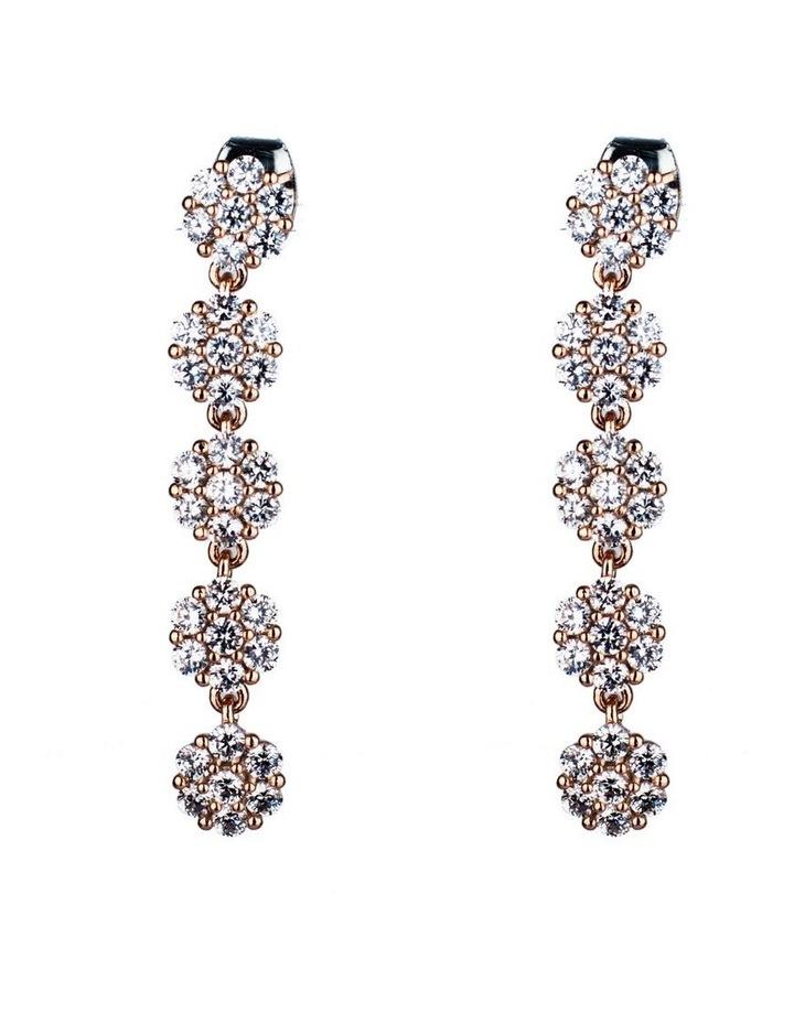 Long Drop Flower Earrings image 1