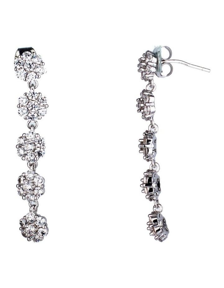 Long Drop Flower Earrings image 2
