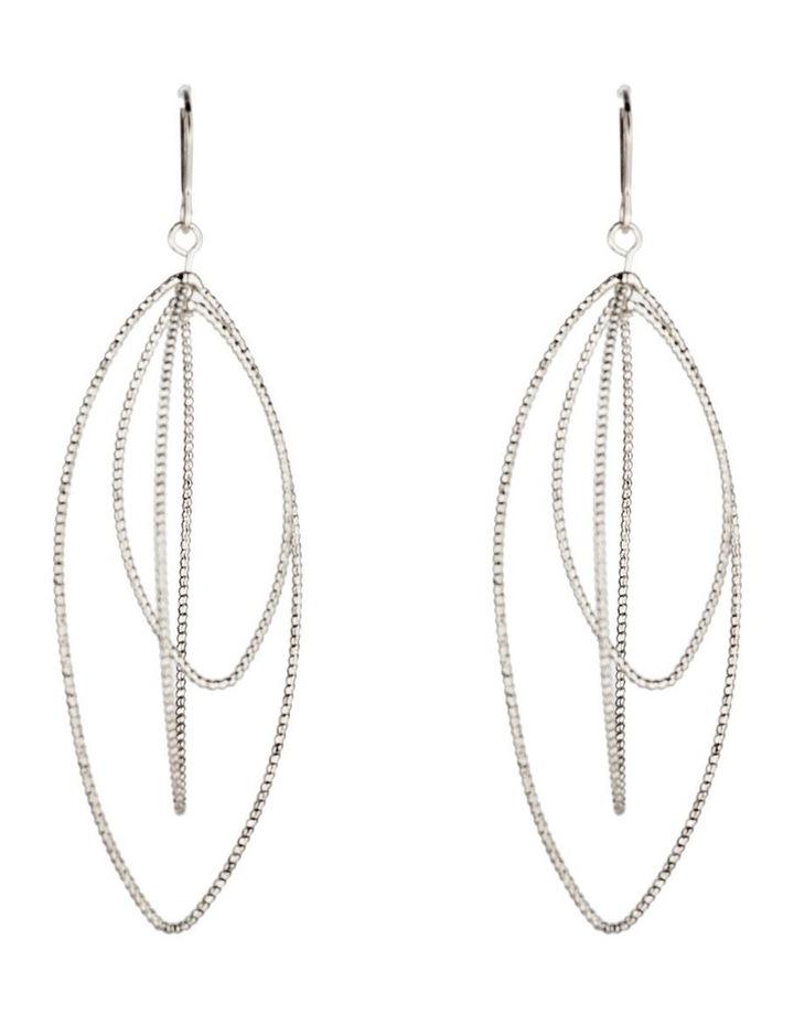Graduated Teadrop Metal Earrings image 1