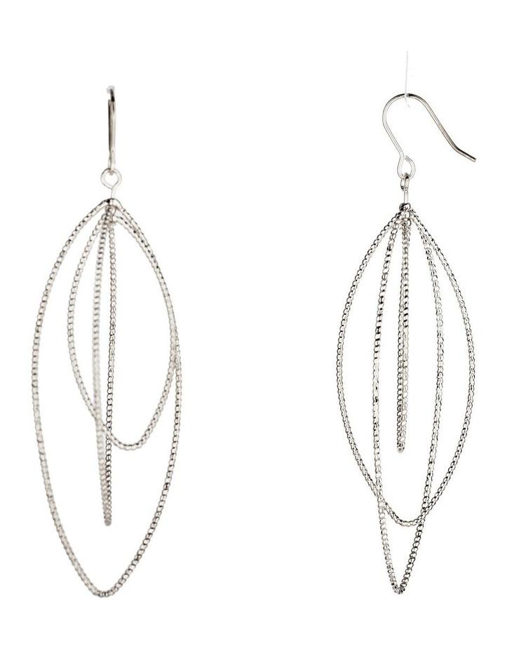 Graduated Teadrop Metal Earrings image 2