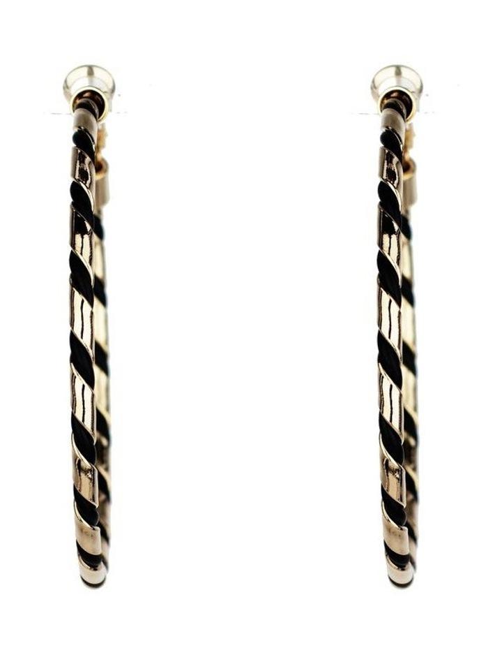Woven Hoop Earrings image 1