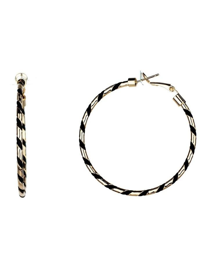 Woven Hoop Earrings image 2
