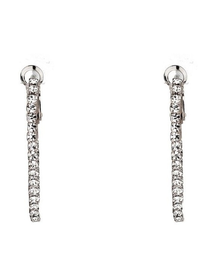 Oval Hoops With Cz Edge And Lever Backs image 1