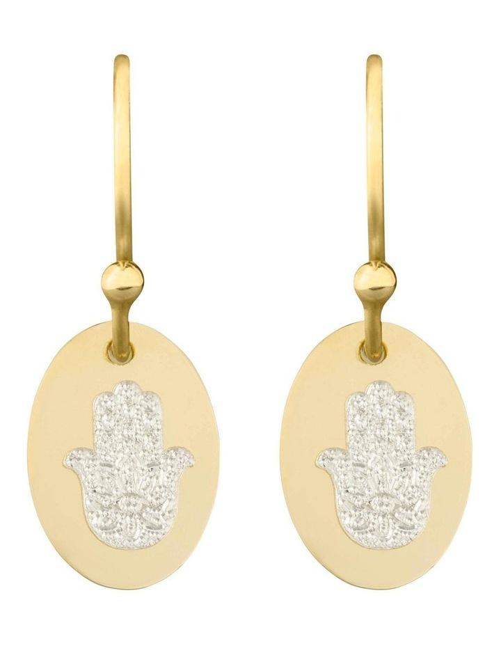 Hamsa 0.8 Drop Earrings: YG image 1