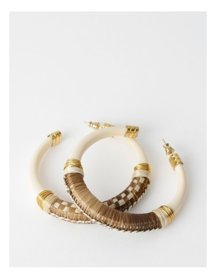 Comporta Raffia Hoop Earrings image 1