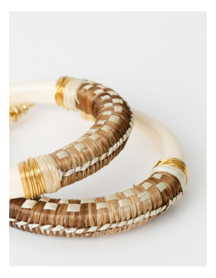 Comporta Raffia Hoop Earrings image 2