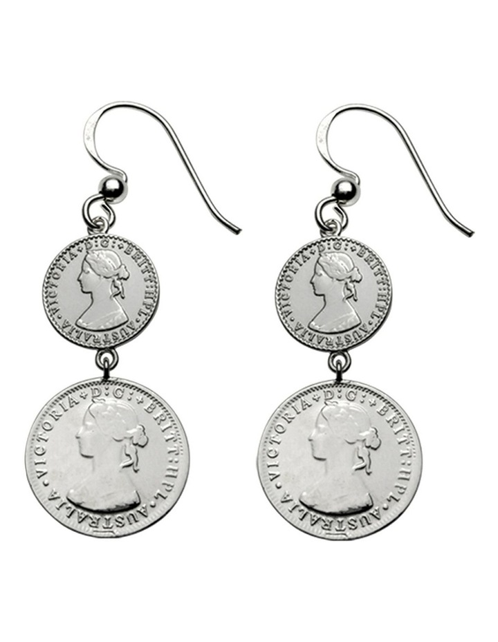 Double Coin Earrings image 1