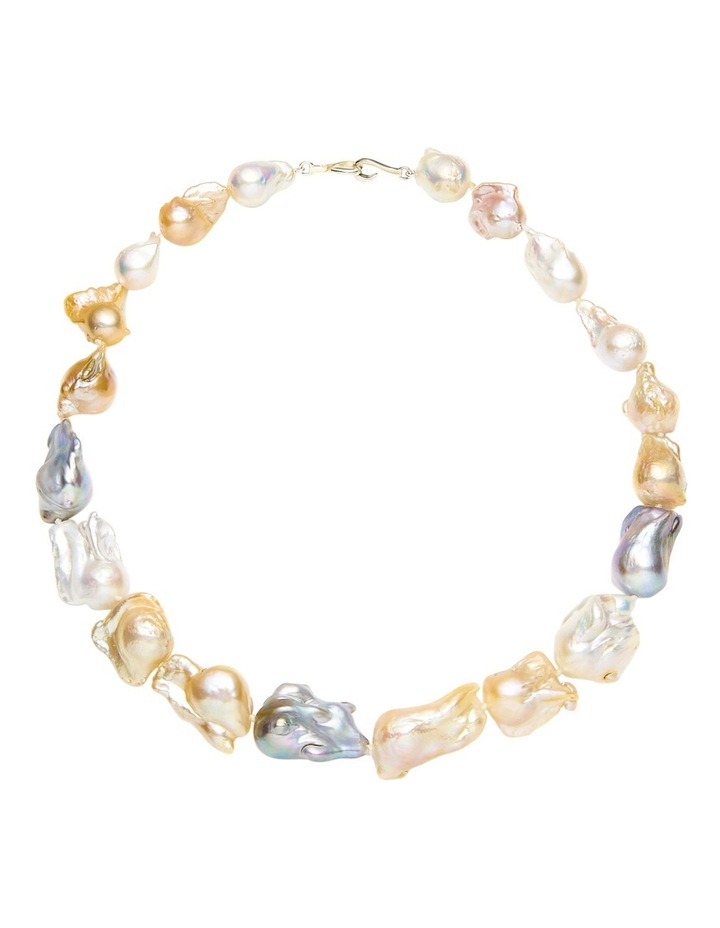 Multi Tone Baroque Freshwater Pearl Necklace image 1