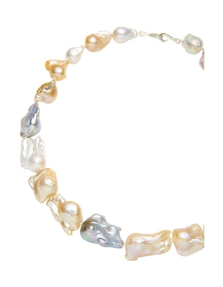 Multi Tone Baroque Freshwater Pearl Necklace image 2