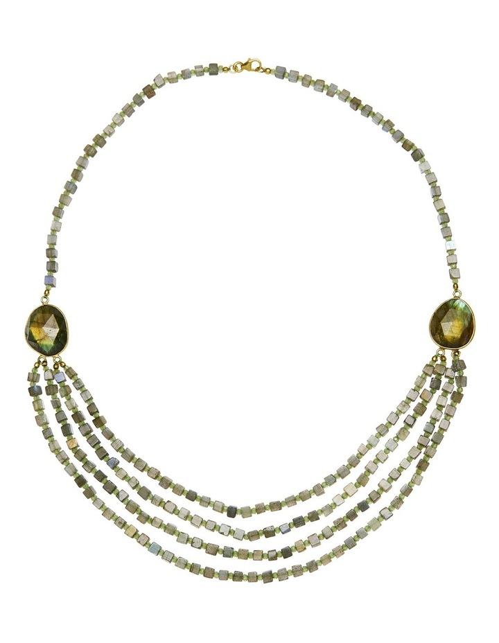 Gemstone Necklace Green image 1