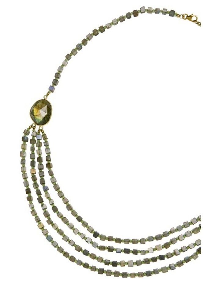 Gemstone Necklace Green image 2