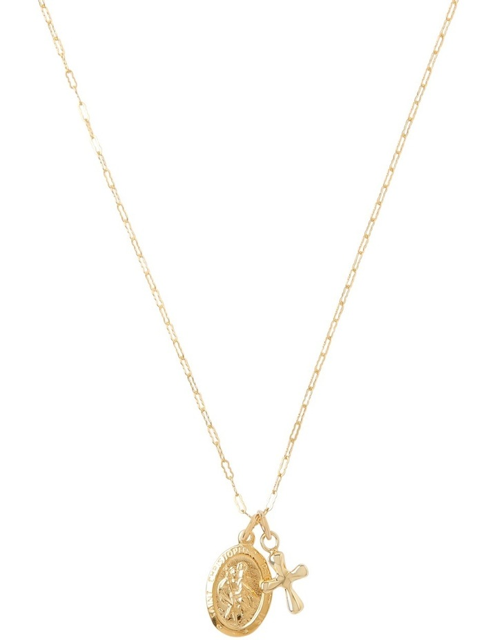 Yellow Gold-Filled Flat Filigree Chain Necklace image 1