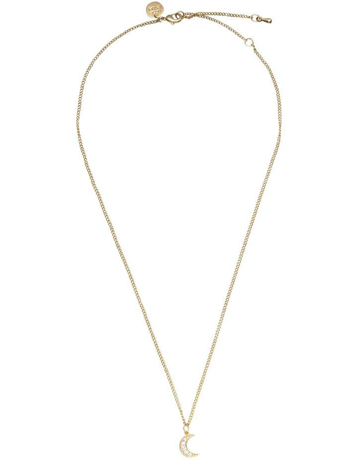 NF-3199C-SG Moon Charm Necklace image 1
