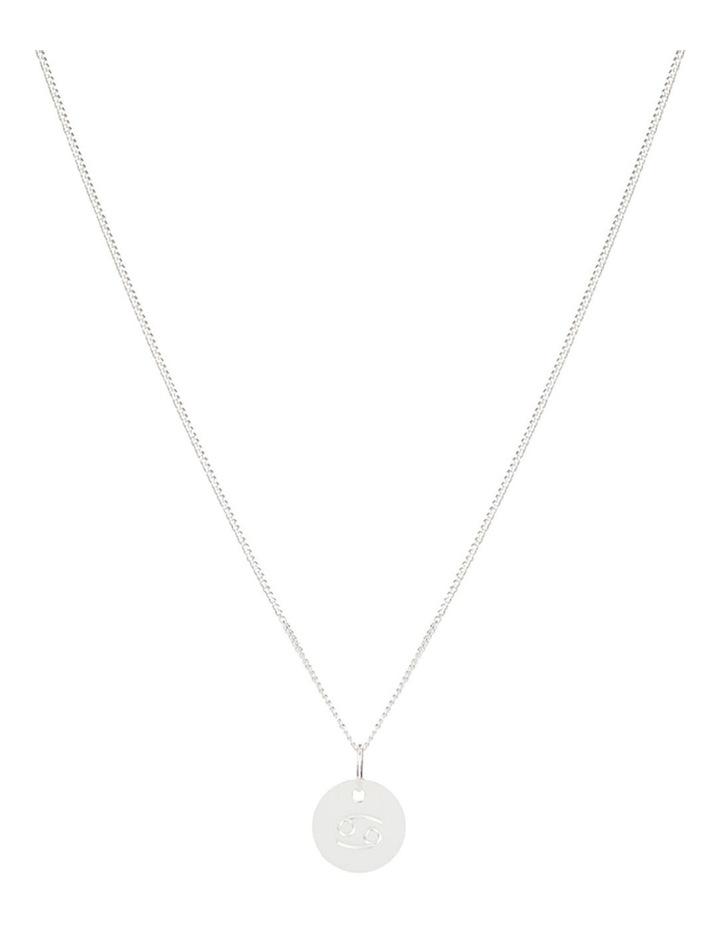 Zodiac 1.2 Necklace, Cancer: Silver image 1