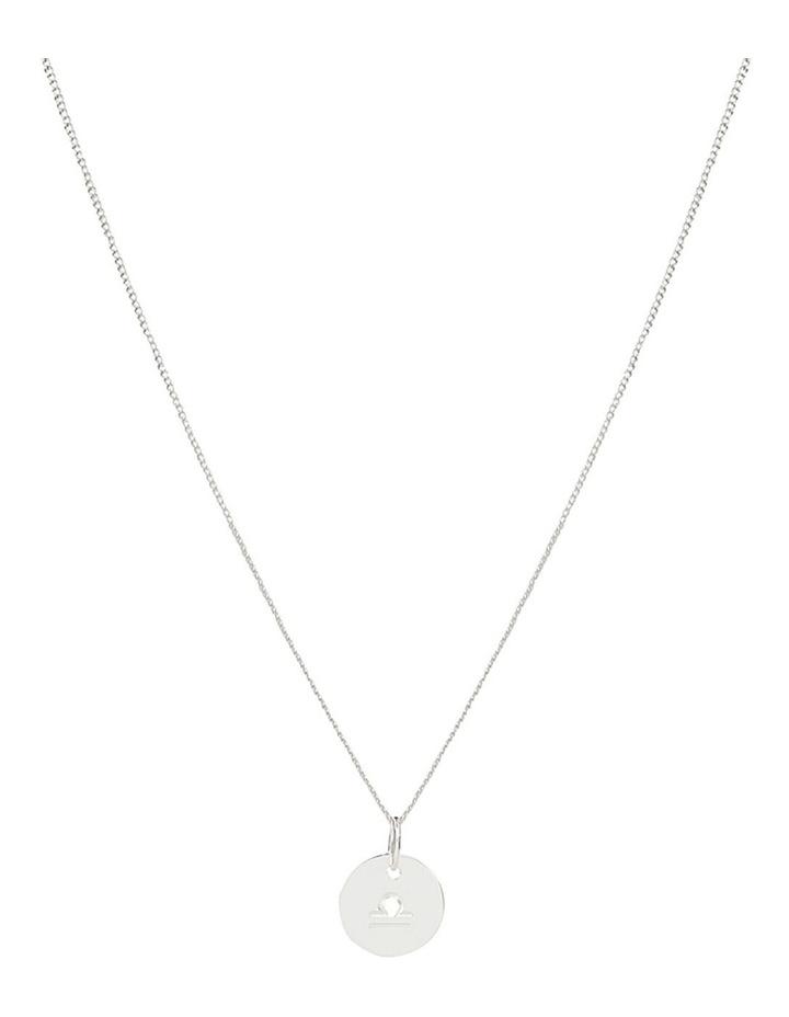 Zodiac 1.2 Necklace, Libra: Silver image 1