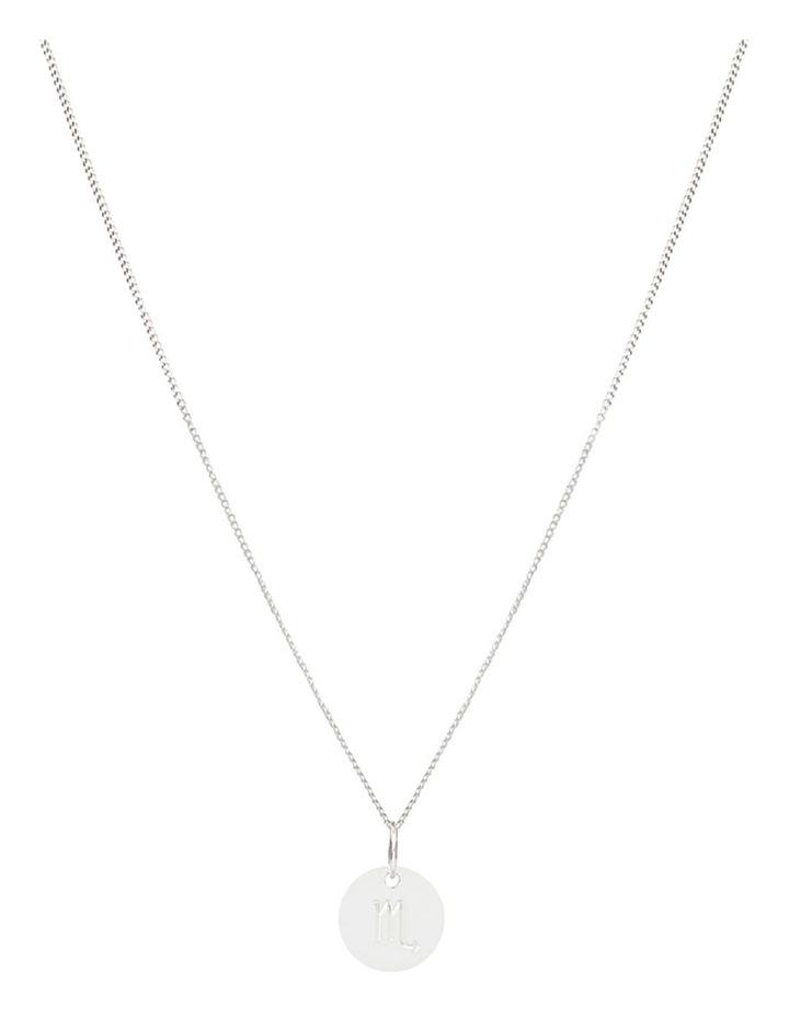 Zodiac 1.2 Necklace, Scorpio: Silver image 1