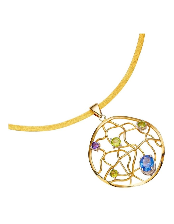 Gold Collar Gemstone Pendant image 2