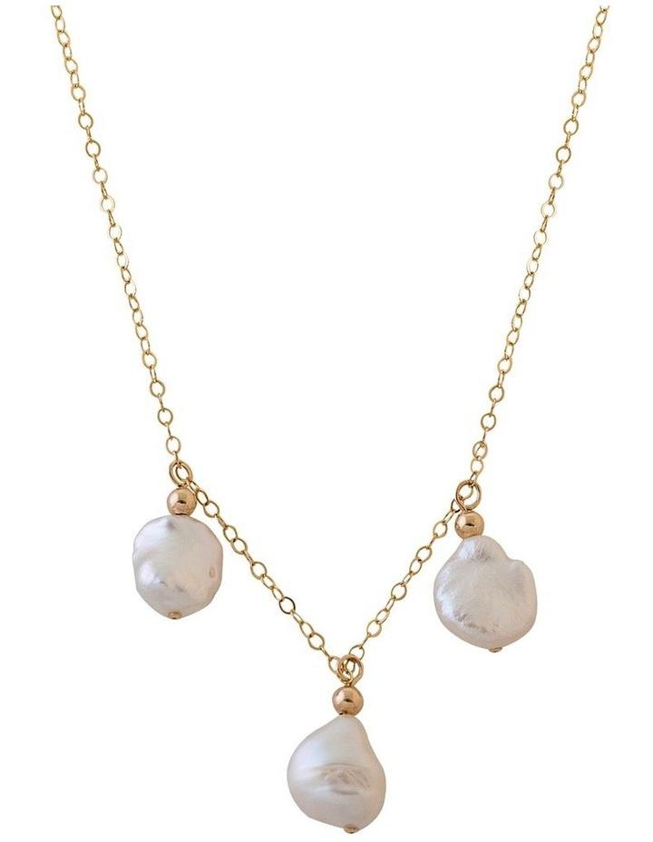 Keshi Pearl Trio Necklace image 1