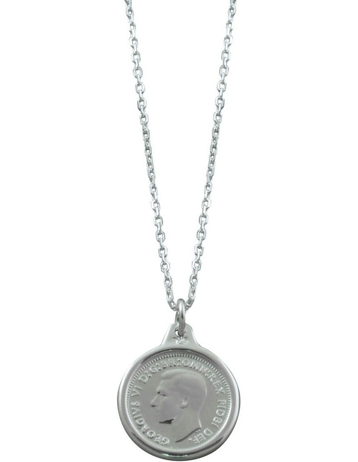 Adjustable Link Chain Coin Necklace image 1