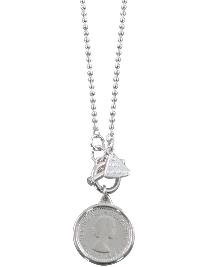 Ball Chain Necklace With Coin image 1