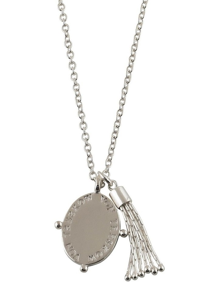 Belcher Necklace With Tassel & Oval Plate image 1