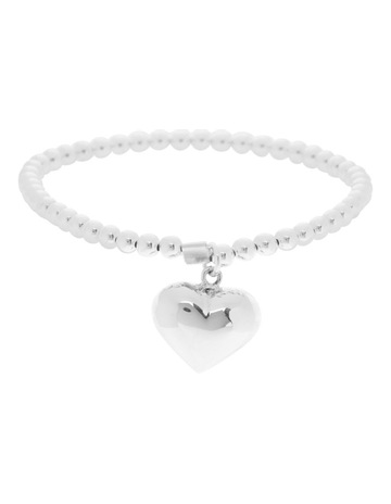 19063d84b Limited stock. Von TreskowSterling Silver Stretchy Bracelet With Puffy Heart