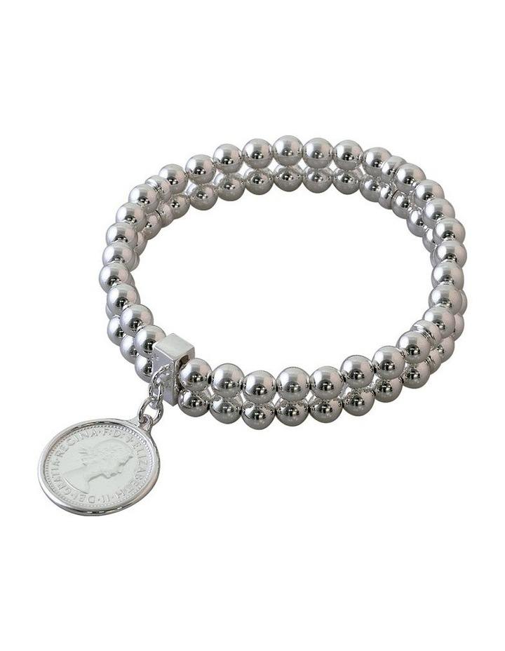 Double Row Stretchy Coin Bracelet image 1