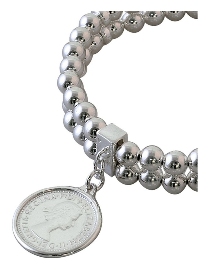 Double Row Stretchy Coin Bracelet image 2