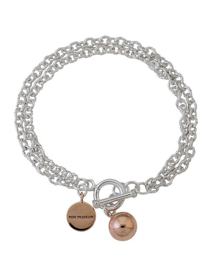 Hammered Belcher Bracelet With Ball Charm image 1