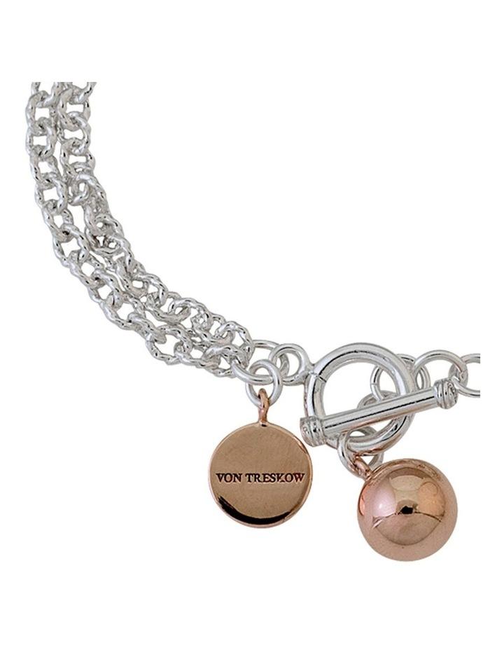 Hammered Belcher Bracelet With Ball Charm image 2