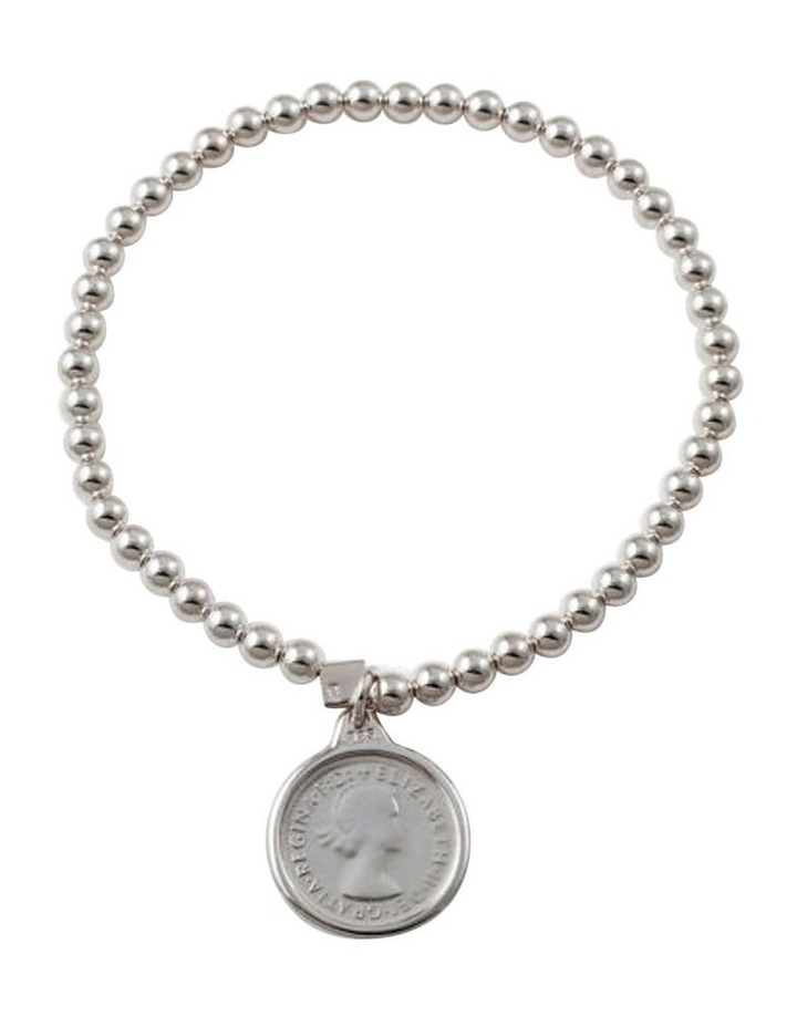 Stretchy Coin Bracelet (4mm beads) image 1