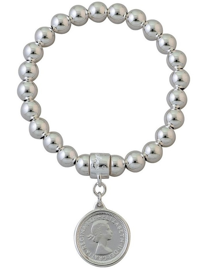 Stretchy Coin Bracelet (8mm beads) image 1