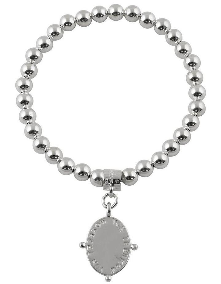 Stretchy Bracelet With Oval Plate image 1
