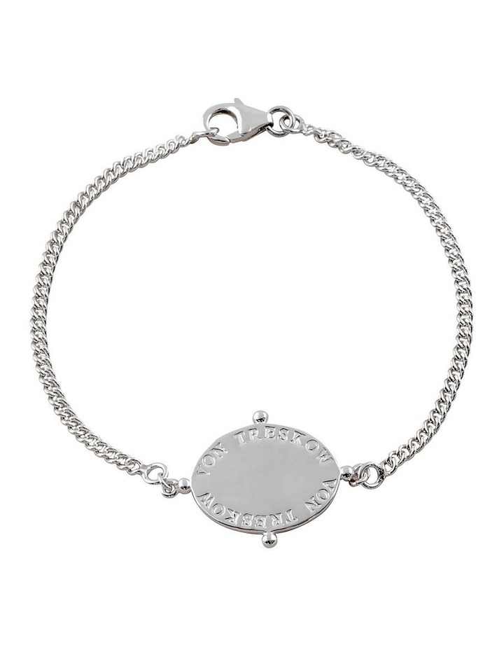 Curb Chain Bracelet With Oval Plate image 1