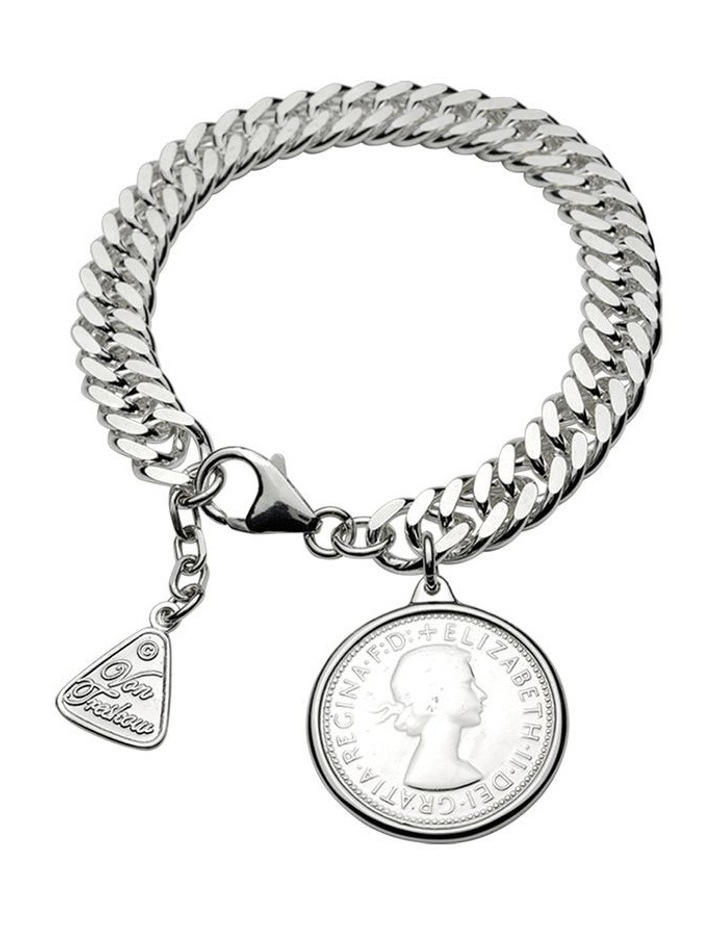 Condensed Curb Bracelet With Shilling image 1
